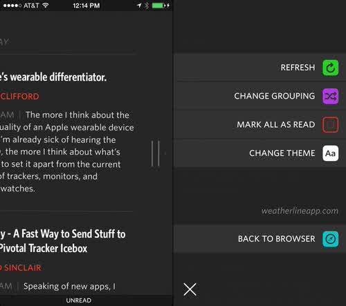 Unread rss reader feed wrangler ios app6