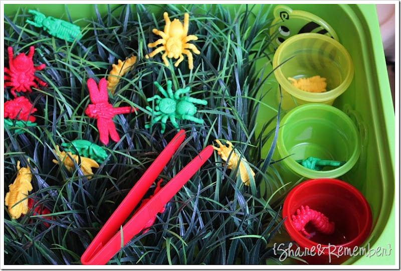 Bugs in the Grass Spring Play Bin