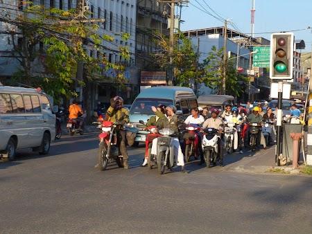 Motociclisti in Chiang Mai
