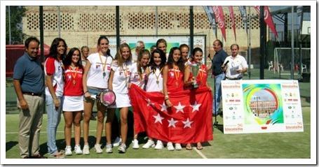 Dominio andaluz y madrileño en el Campeonato de España por Selecciones Autonómicas de Menores de Pádel 2011 celebrado en Badajoz COMUNIDAD DE MADRID