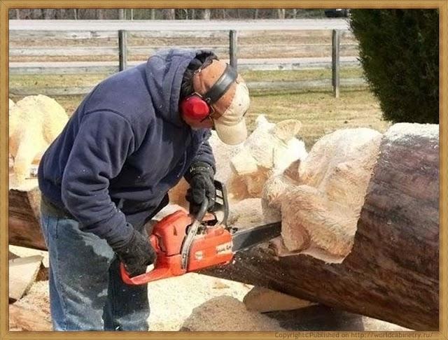 Резьба по дереву бензопилой