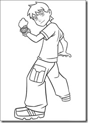 desenho para colorir ben 10