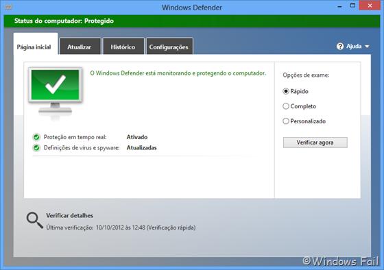 Windows Defender: novo antivírus do Windows 8