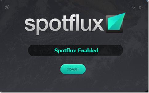 Spotflux abilitato connessione cifrata