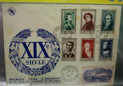 Enveloppe 1 er jour serie célébrités du XIX  siecles Mazio