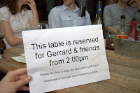 "We stole ""Gerrard's"" table"