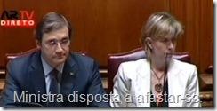 Ministra das Finanças demissionária. Jul.2013