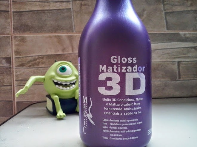 Testei Magic Gloss 3D Ice Blond
