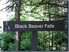 5559 Ontario - Sault Ste Marie - Agawa Canyon Train Tour  - Agawa Canyon stop - Black Beaver Falls sign