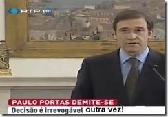Cavaco dá a Portas oportunidade de se demitir.Jul.2013