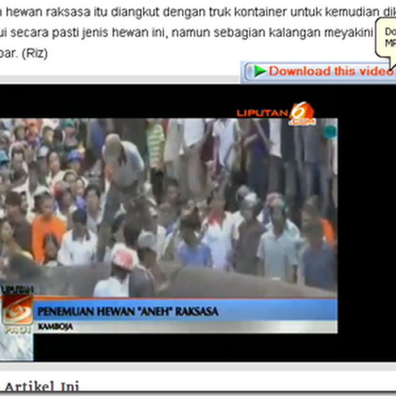 Cara download video Streaming