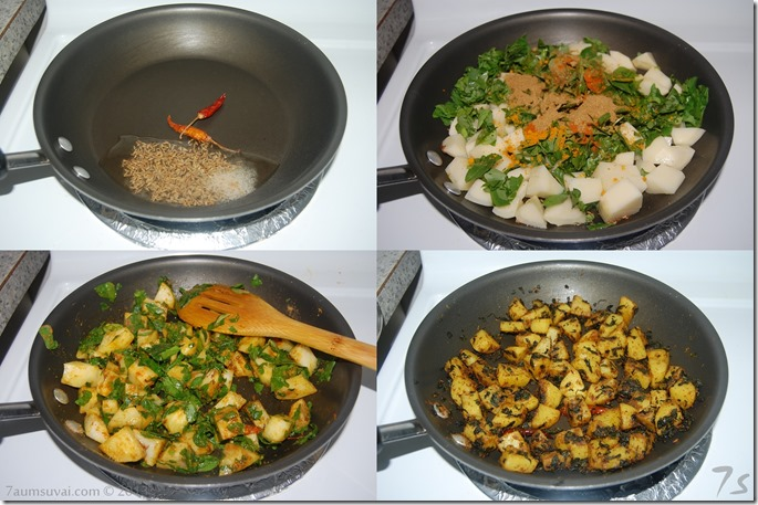 Aloo methi  process