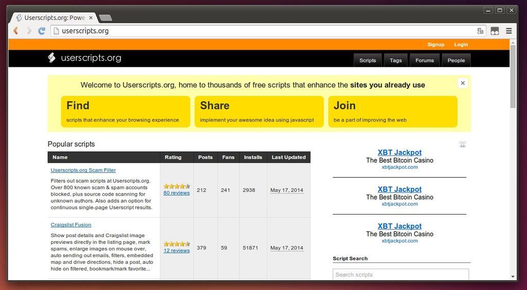 Userscript Home Page