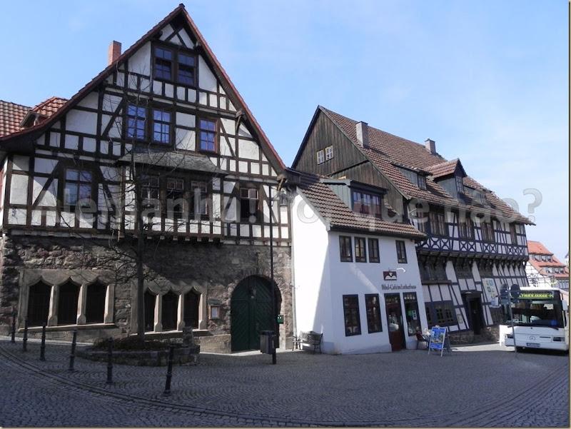 Centro antigo de Eisenach com suas casas típicas