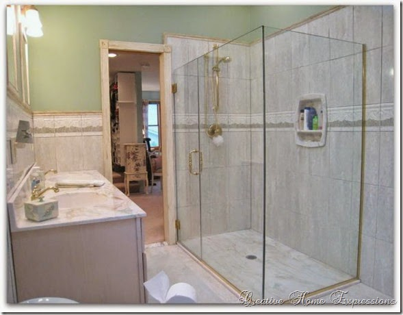 Master Bath With Just Shower creative home expressions: paint color options ~ master bathroom