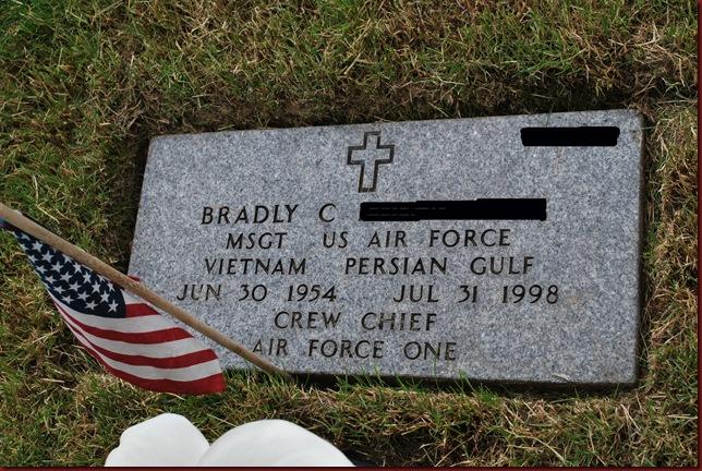 Brad's headstone