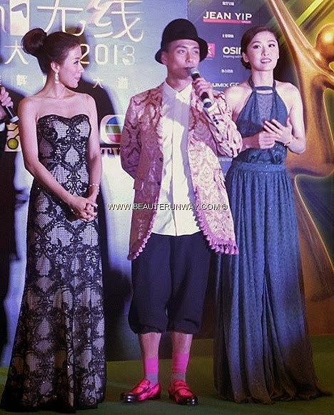 STARHUB TVB AWARDS 2013 Niki Chow A Change of Heart Bosco Wong My Favourite TVB On Screen Couple award Hong Kong Celebrities in Singapore Marina Bay Sands Green Carpet