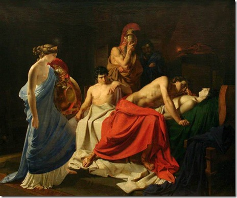 Achilles and the body of Patroclus - Nikolai Gay