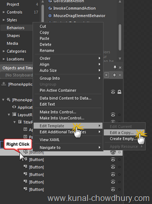3. Editing Button Template