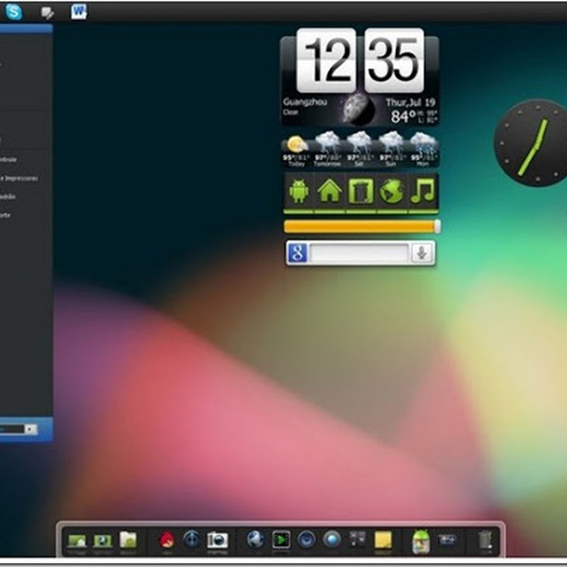 APPLY ANDROID SKIN PACKs FOR WINDOWS 7