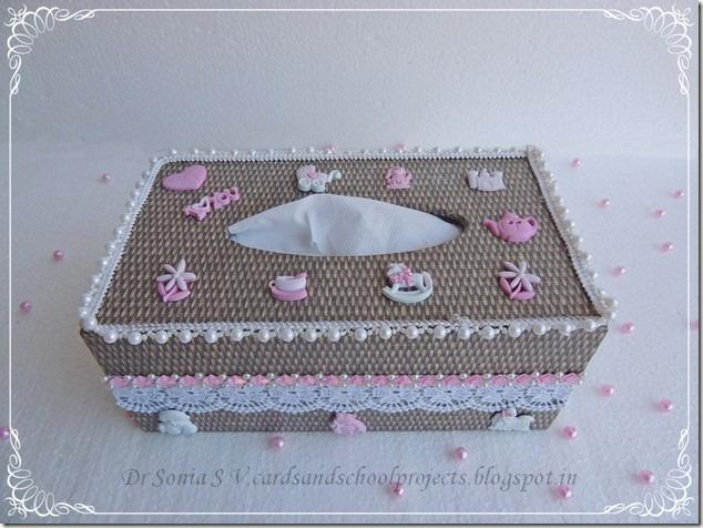 Tissue box decoupage  10