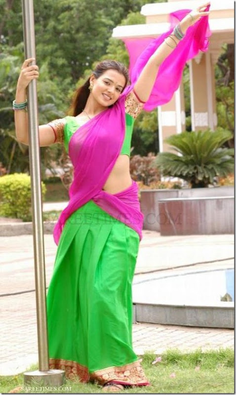 Saloni_Pink_Green_Half_Saree