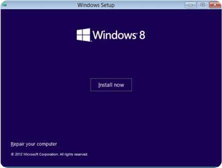 Click on INSTALL NOW to install windows 8.1