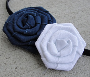 Prettylicious Navy &amp; White Headband