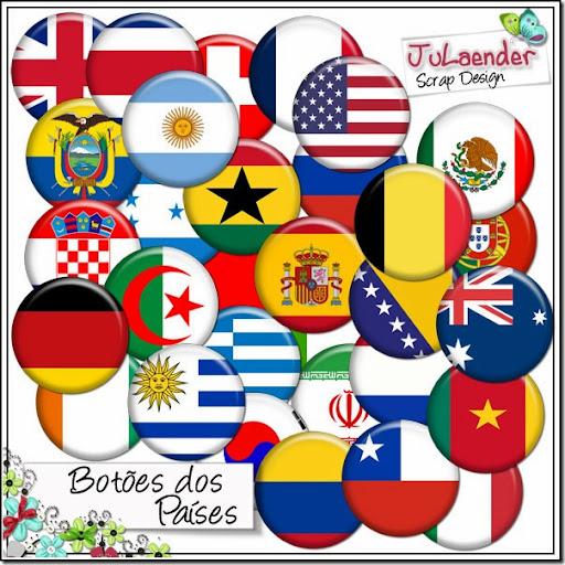 FREEBIE – Copa 2014 – Botões dos Países (Buttons)