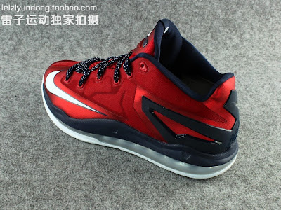 nike lebron 11 low gr red black 1 10 This LeBron 11 Low Dipped in USA Colors Drops in June