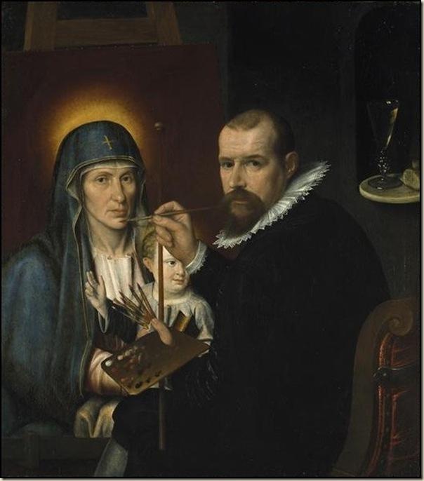 Engehald, Autoportrait St Luc peignant la Vierge