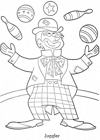 palhaço-colorir-Clowns To Color-coloring page-00020