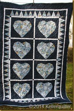 Quilt119-Gänseblümchen haben auch Herz