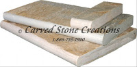 "Serengeti Gold Quartzite Pool Coping 24"" x 16"" x 2"".  Natural Cleft Finish. Bullnose Profile"