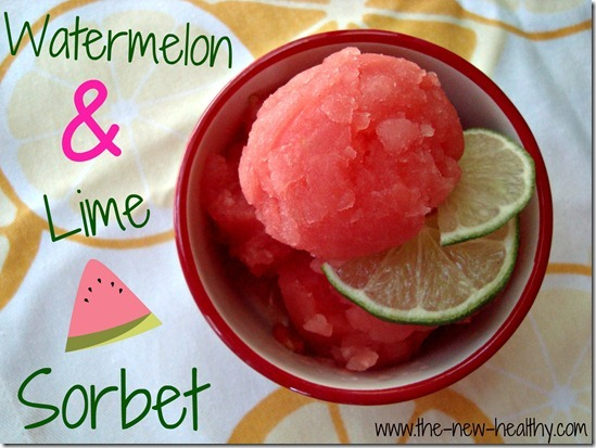 summery watermelon and lime sorbet