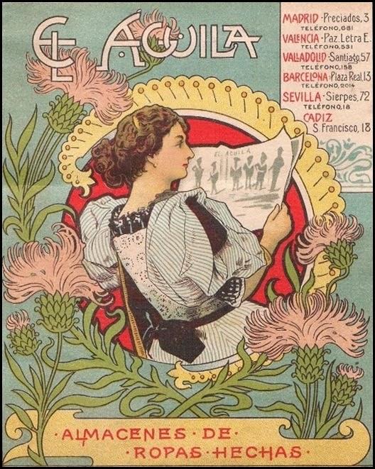 Almacenes El Águila. Enero, 1901calle paz esquina Luis Vives