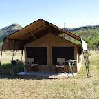 Kati Kati Camp, Zelt Vorderseite © Foto: Judith Nasse | Outback Africa Erlebnisreisen