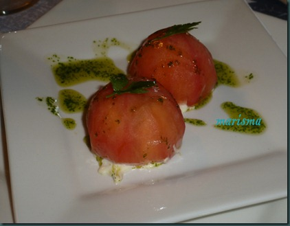 tomates rellenos de ventresca,racion copia