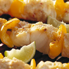 Skewered Fish And Lime Kebabs