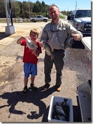 Alex, Jason, crappie catch