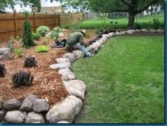crew building garden