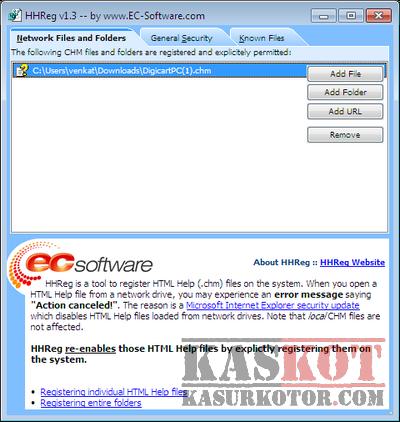 HHreg  Cara Lihat dan Buka File CHM di Windows 7