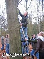De boswachter helpen met nestkastjes ophangen (1)