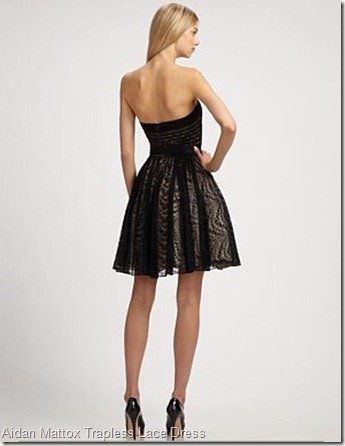 Aidan Mattox Trapless Lace Dress