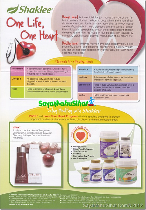 One Life One Heart Shaklee One Stop Centre