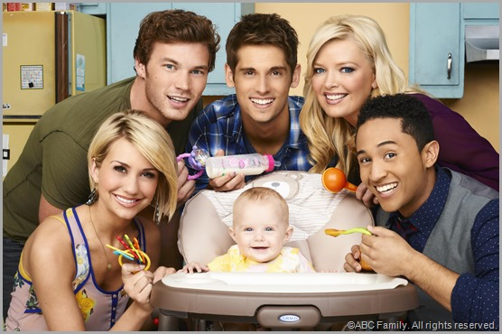 The heavily airbrushed cast of the ABC Family comedy BABY DADDY.