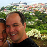 Self-Portrait with the Colorful Capital of Roseau - Roseau, Dominica