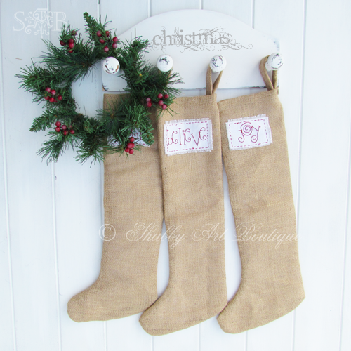 Shabby Art Boutique - burlap stockings 1