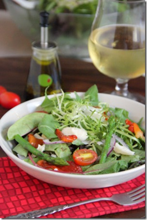 Tomato, Mozzarella & Asparagus Salad