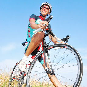 Hungarian Cyclist by Adrienn Liker - Sports & Fitness Cycling ( cyclist, bike, man, portrait, hungarian )
